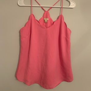 J Crew Scalloped Neck-line Tank